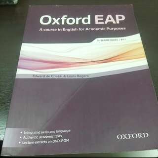 Oxford EAP (English for Academic Purpose) Intermediate / B1+ Student Book with DVD-ROM Pack