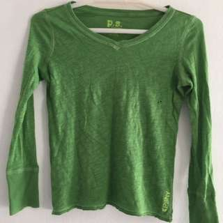 Aeropostale Green Long Sleeves