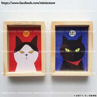 貓咪款木質相框(大) x【Mimizstore】相框/相片收集/照片架/回憶照片/禮物/贈品