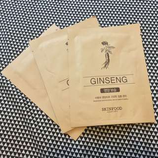 Skinfood Ginseng Sheet Masks