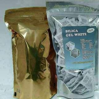Silika Gel White Untuk Aksesoris Non Makanan (sepatu,tas,jaket,dompet,baju Dll) Paket Hemat  100sachet