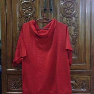 Knitted Red Butterfly Blouse