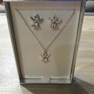 Lovisa Angel Earrings And Necklace Set
