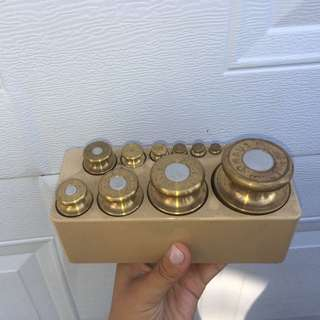 O Haus Brass weight  set