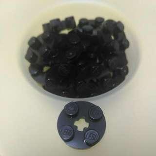 Lego® Black Round Plate 2x2