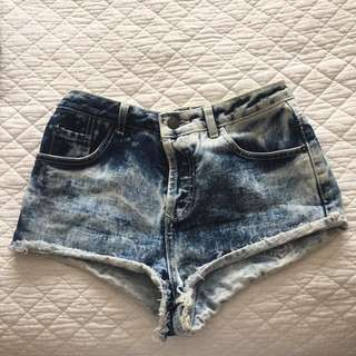 Top shop Acid Wash Short