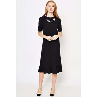 JASMYN DROPWAIST MIDI DRESS BLACK
