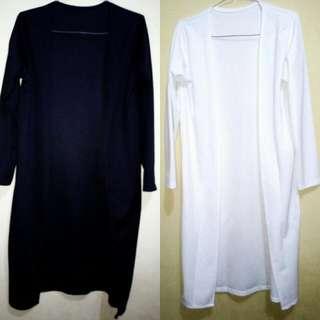 (Reprice)Beli 1 Harga dapat 2 Cardigan hitam dan putih