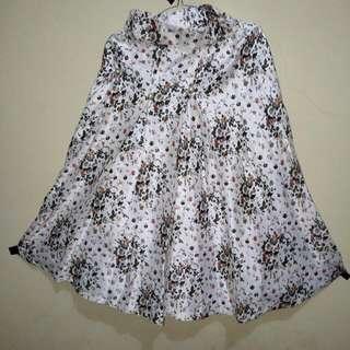(Reprice)Baju Vintage Kawaii Set Rok+Vest