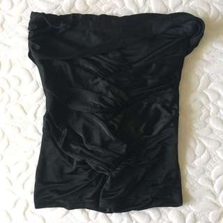 GUCCI Black Strapless Ruched Top Size 38 (XS/S)