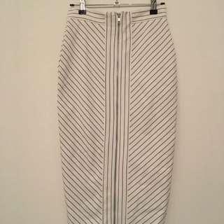 Forecast Stripe Detail Bodycon Pencil Skirt