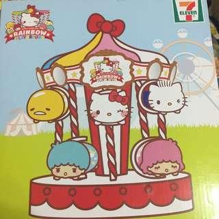 7-Eleven 玩具擺設架 Hello Kitty 蛋黃哥 7-11