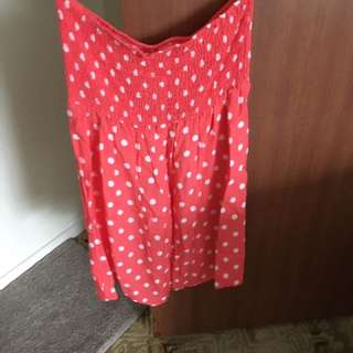 Size L Strapless Dress
