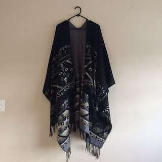 Cape with Fringe Detail (reversible)
