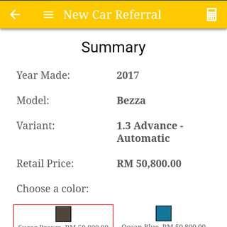 Perodua Bezza 1.3 Advanced Auto