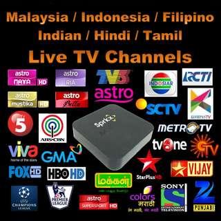 Malaysia / Indonesia / Indian / Filipino TV Channel IPTV