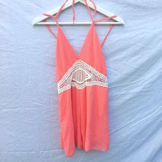 Orange/Peach Playsuit