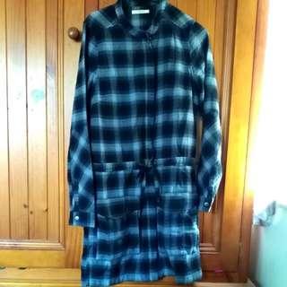 Chevron Printed Winter Long Jacket