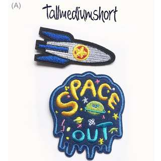 Space Out Embroidered Iron-on Patches/ Pins (DIY) 1