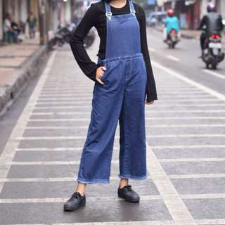 Dark Denim Overall Culotte by AgShop