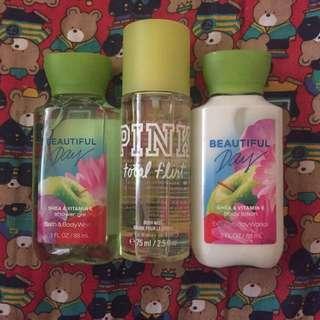 Bath & Body Works Bundle + VS Pink Body Mist