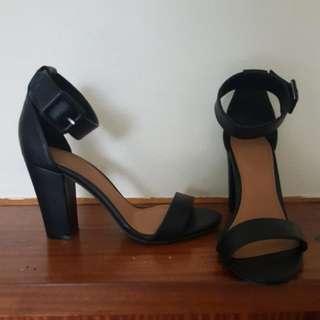 Rubi Shoes - Black Strap Heel