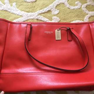 Coach Leather Preloved Red Bag