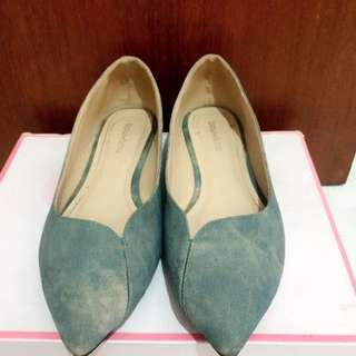 bow bow Flat Shoes Jeans
