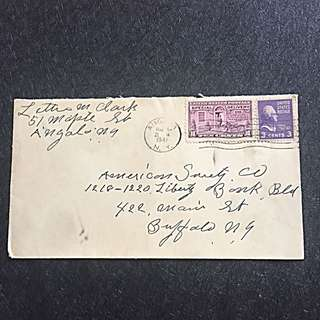 "US 1941 Special Delivery Cancellation Error Inverted Time ""12"" Cover to Buffalo New York"