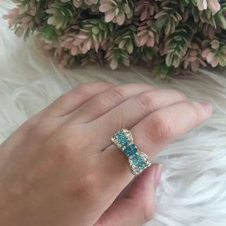 Blue Bow Ring