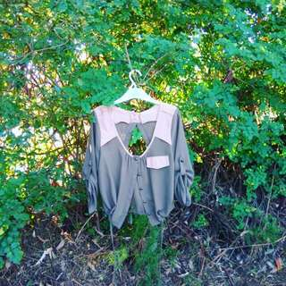 Green And Mouve Jacket/top
