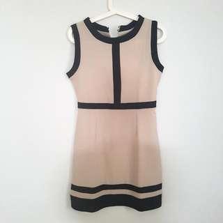 Beidge And Black Mini Dress