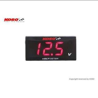 Koso Slim Volt Meter (Water Proof)