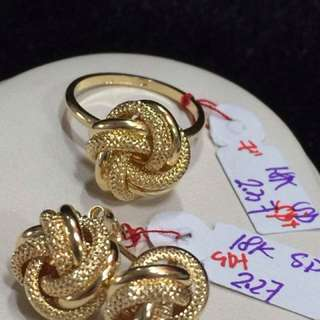 Knotted Rings And earrings