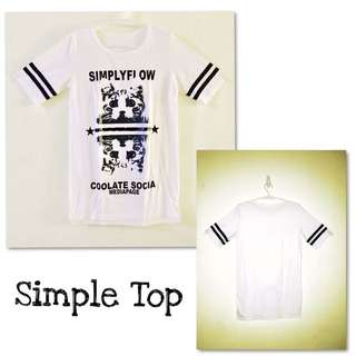 Simple Top : White
