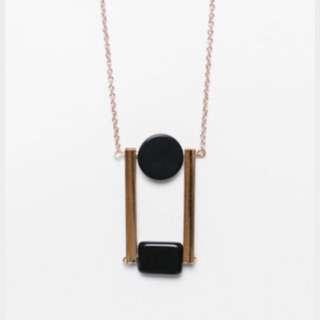 Lovebonito Nieves Geometric Pendant Necklace
