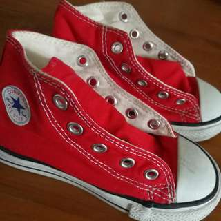 Converse Red Highcut Shoe