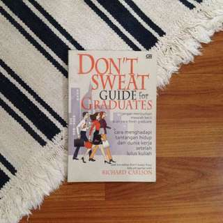 (PRELOVED) Don't Sweat Small Things for Graduates