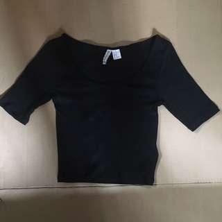 H&M 1/2 Sleeve Crop Top