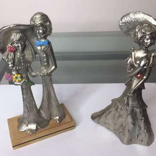 6 Metallized Figurines