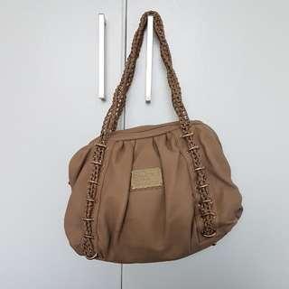 Bebe USA Tan Leather-Like Handbag