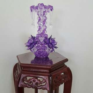 Handicraft Elegant Vase (Acrylic Beaded 16mm, Purple)