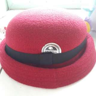 Maroon Red Bowler Hat