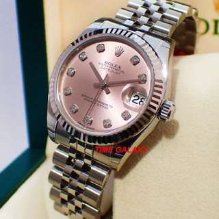 ROLEX DATEJUST PINK DIAMOND 31mm