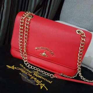 Vivienne Westwood Genuine Leather Handbag Original