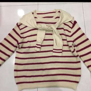 Red Stripe Knitted Sweater