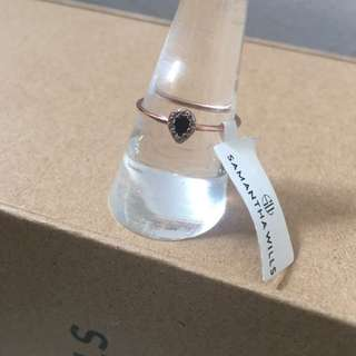 SAMANTHA WILLS Isla Dainty Onyx Bardot Ring