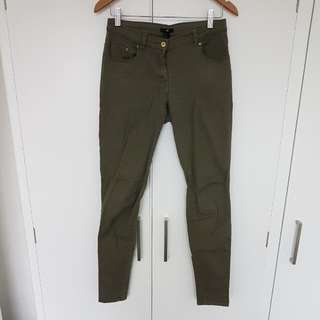 H&M Army Green Jeans EUR 38