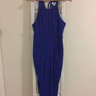 Blue Cocktail Dress Sz12