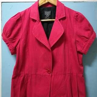 Bayo red blazer